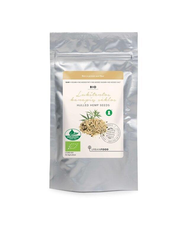 Lukštentos kanapių sėklos - EKOLOGIŠKOS, 150 g