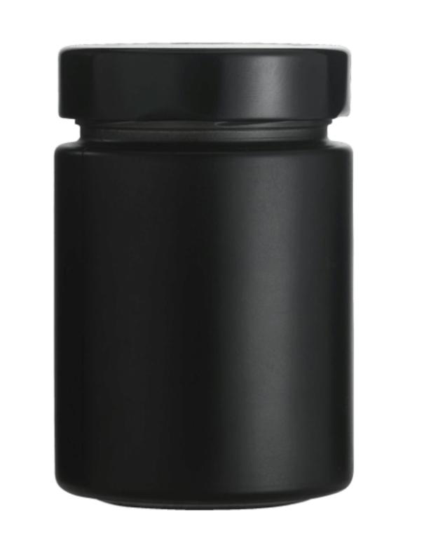 Stiklainukas, matinis, juodo stiklo, 192 ml